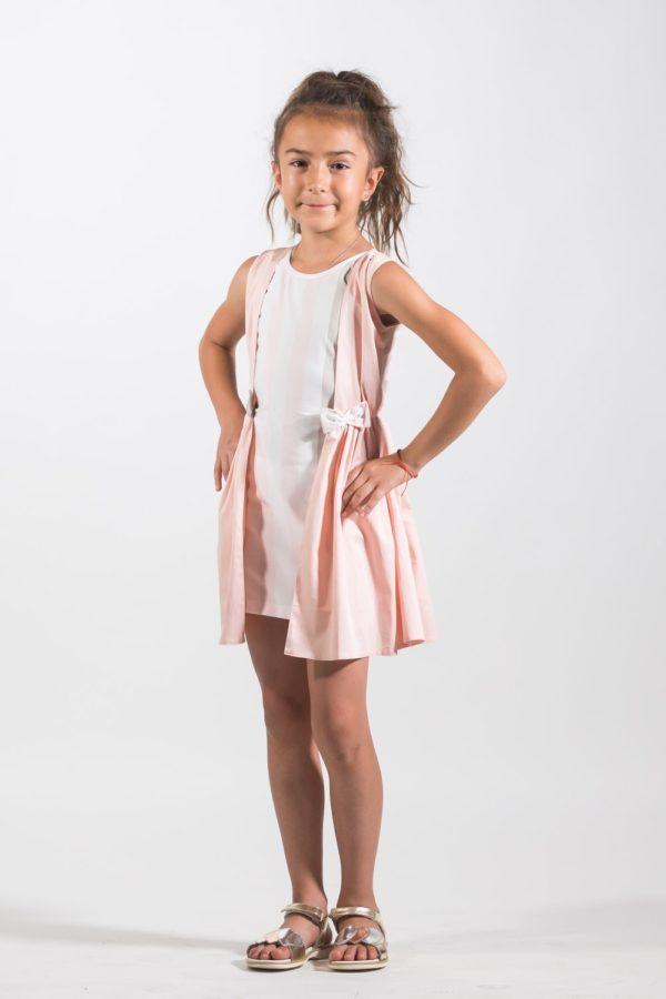 Haine copii elegante - Rochii fete Belle Sophy Roz