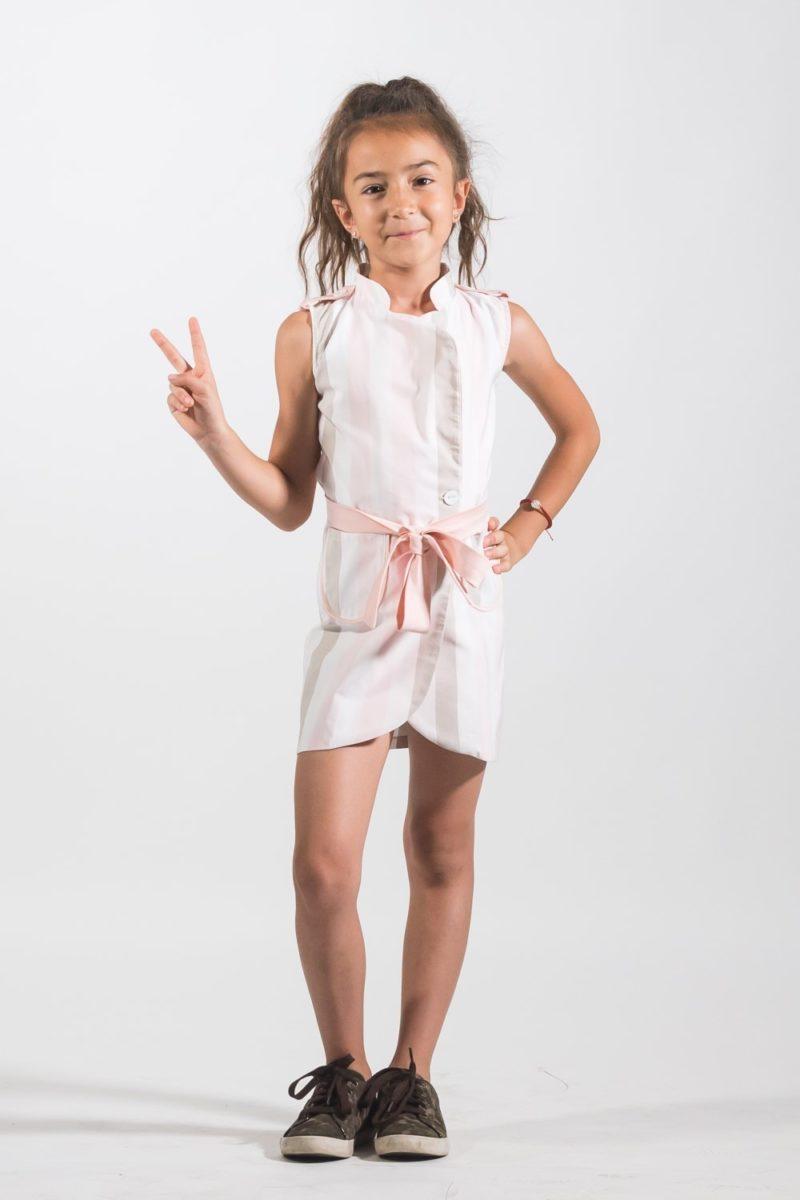 Haine copii - Rochii fete Rochie Pardesiu Strapes