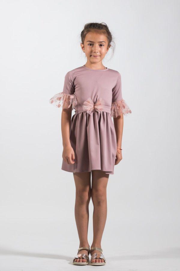 Rochii fete de ocazie Dusty Pink - atelier creație NOAR Kids