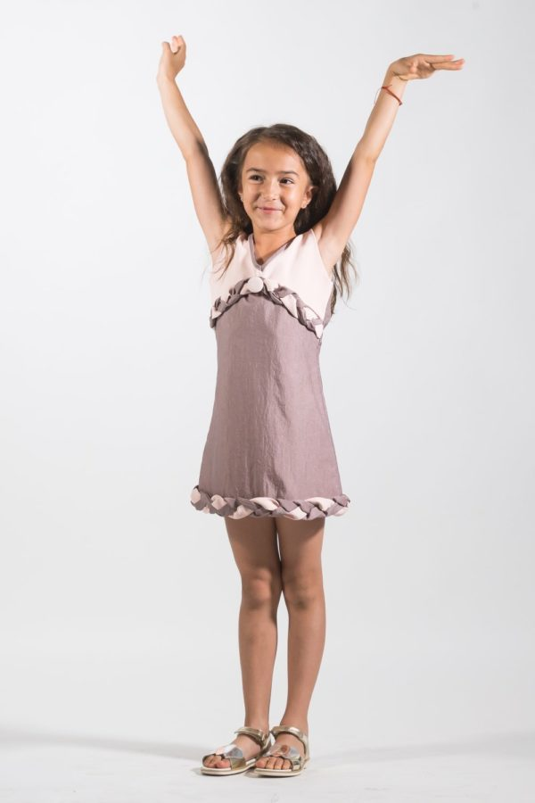 Rochii fete de ocazie Knitted Pink - haine de lux