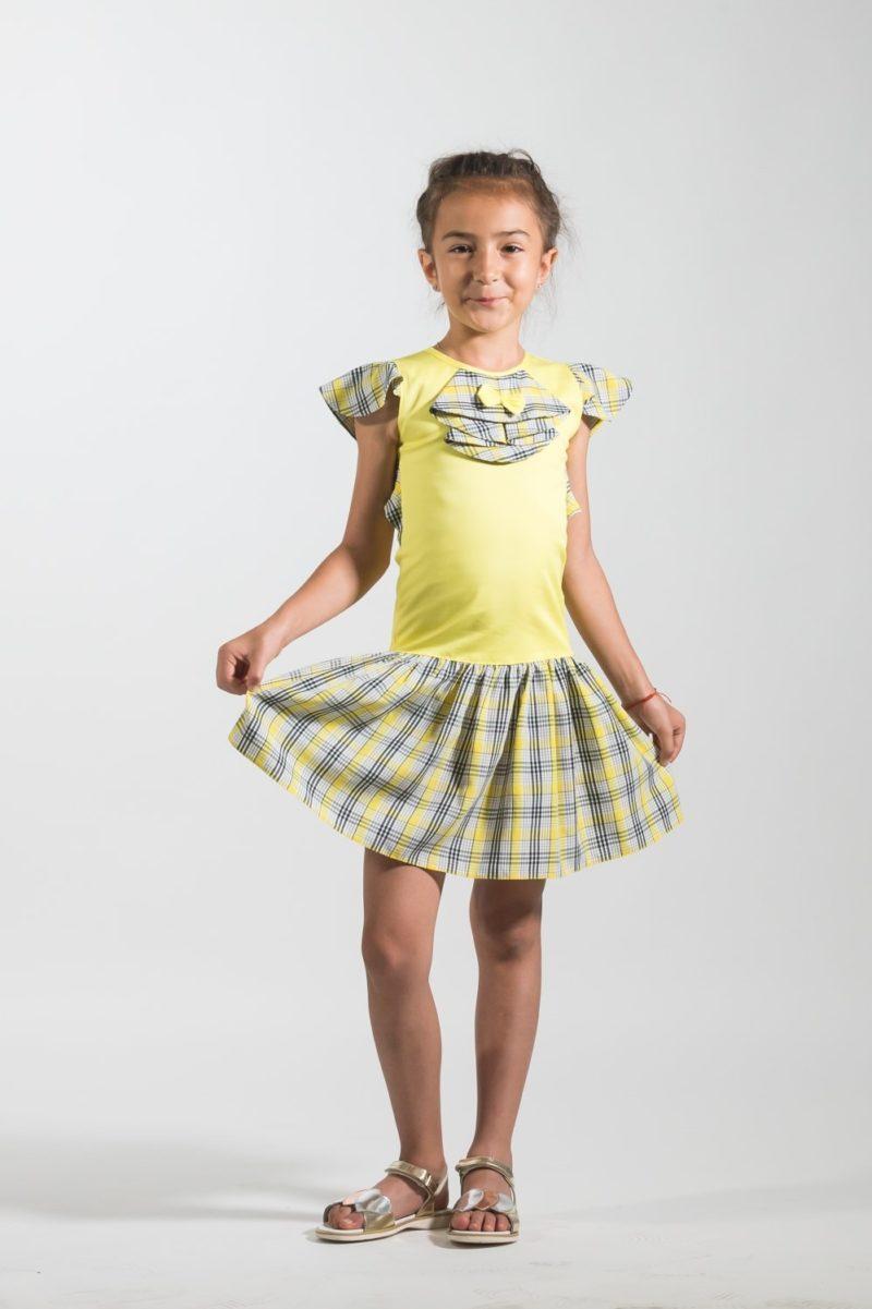 Rochii fetițe - Rochii fete elegante Yellow Dream