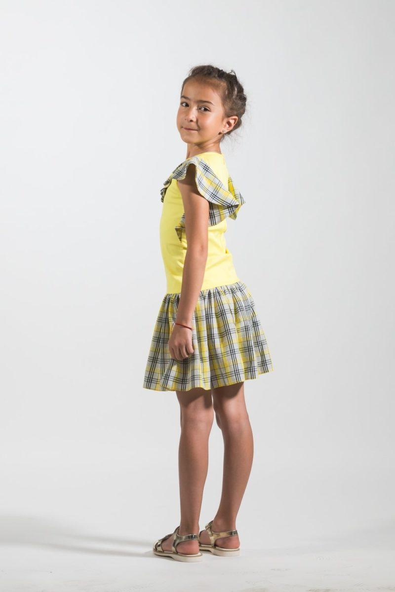Rochii fete elegante Yellow Dream - ținute copii designeri români
