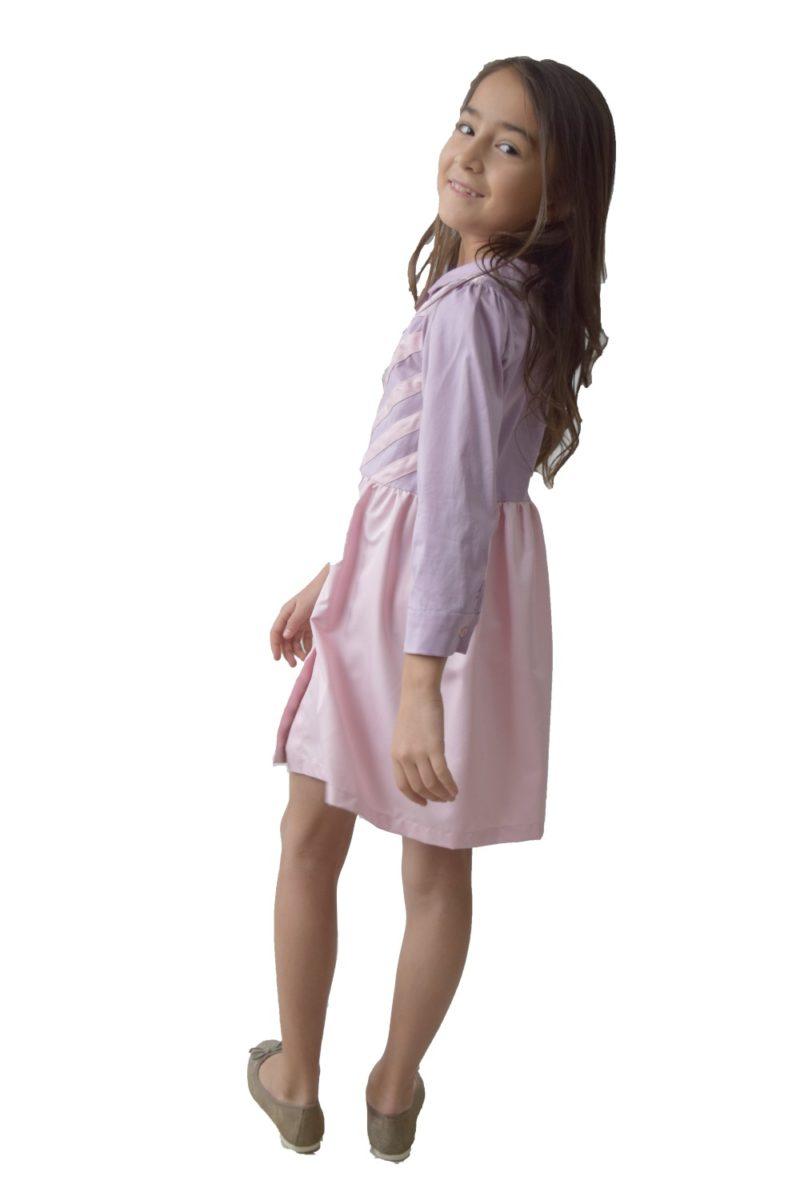 Rochie- cămașă Duo-Star - haine copii Craciun - rochite fete