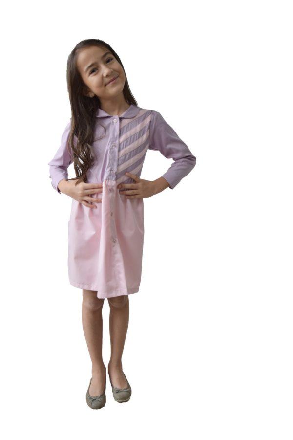 Rochie- cămașă fete Duo-Star - haine copii Craciun - hainute copii