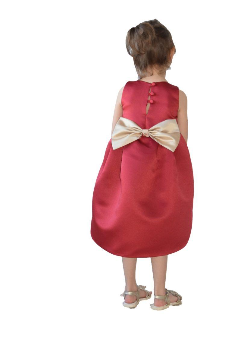 Rochie-frac de Crăciun Goldie - haine copii Craciun si Sarbatori