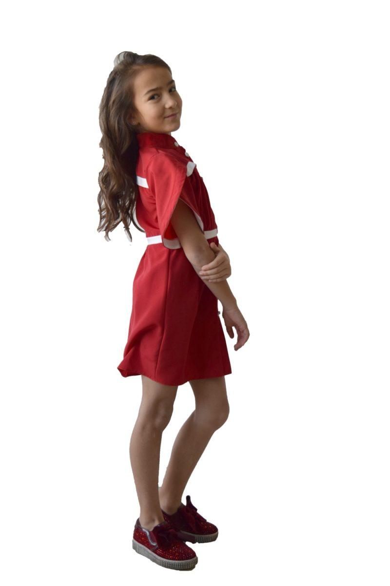 Rochie roșie Lovely - haine copii Craciun sarbatori