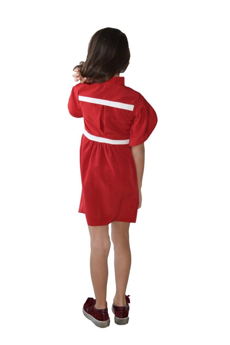 Rochie roșie Lovely - haine copii Craciun