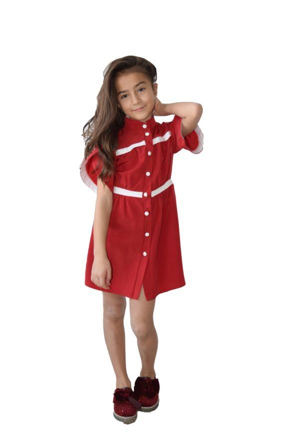 Rochie fete roșie Crăciun fete