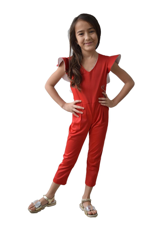 Salopetă Fete Roșie Wings Haine Copii Rochii De Ocazie Rochii