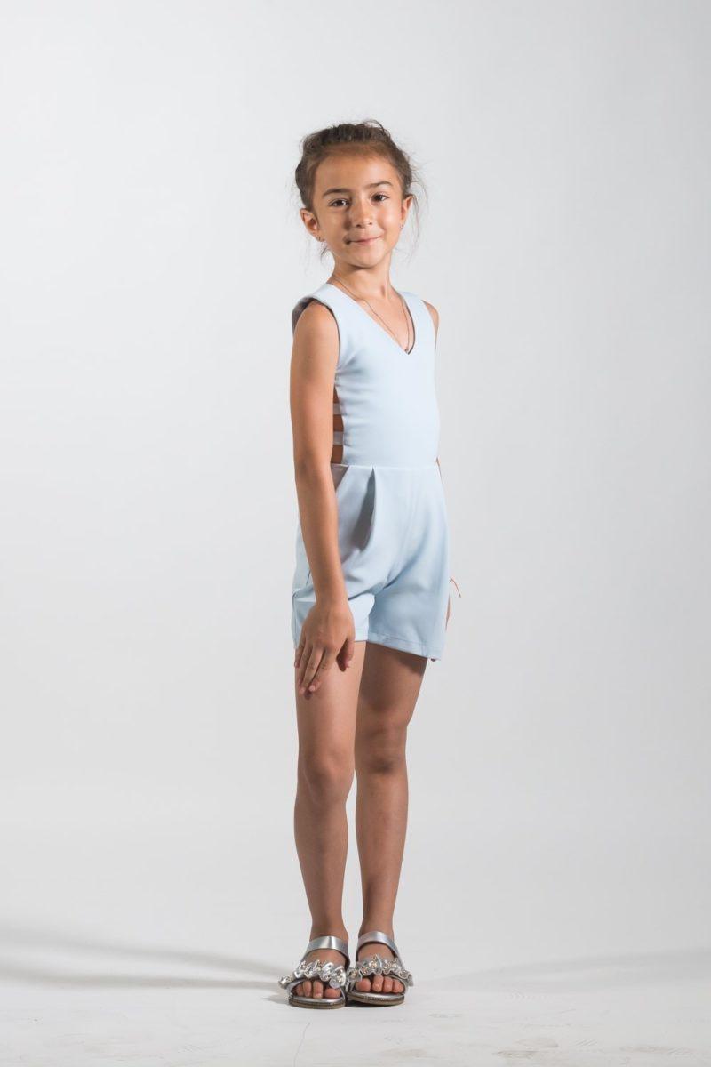 Salopetă scurtă fete Blue Blue haine pentru copii