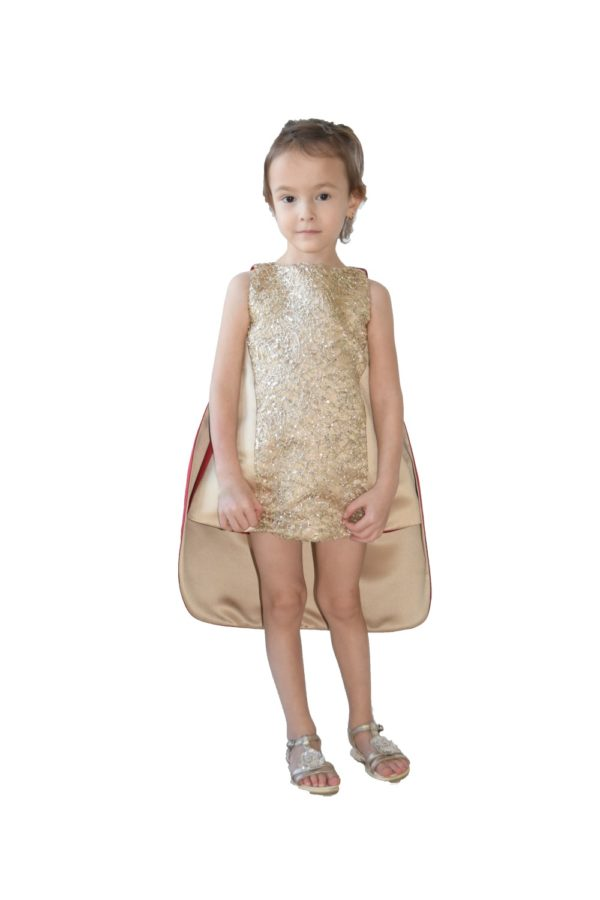 Rochie-frac de Crăciun Goldie - haine copii Craciun - haine online