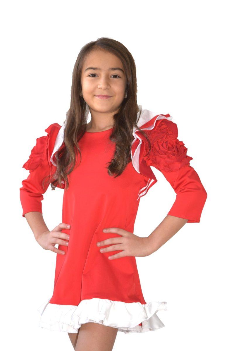 Rochie fete roșie pentru Crăciun